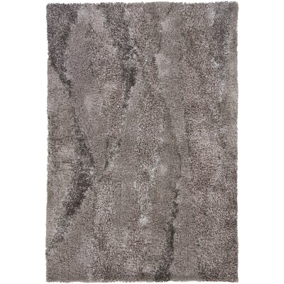 Isidore Shag Gray Area Rug Rug Size: Rectangle 5 x 76