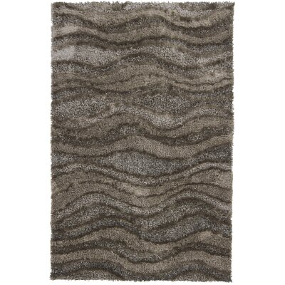 Areva Shag Brown/Tan Area Rug Rug Size: 79 x 106