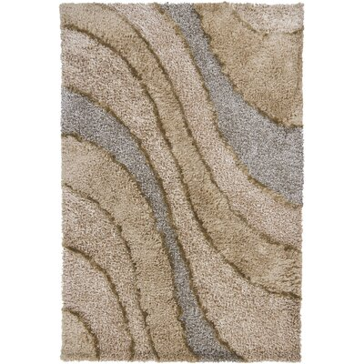 Isidore Shag Beige Area Rug Rug Size: Rectangle 79 x 106
