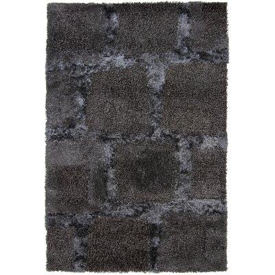 Areva Shag Black Area Rug Rug Size: 79 x 106