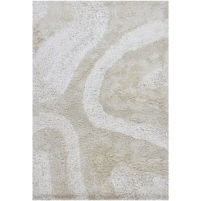Isidore Shag Light Beige Area Rug Rug Size: Rectangle 79 x 106