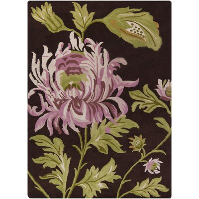 Jonas Brown Area Rug Rug Size: 5x7
