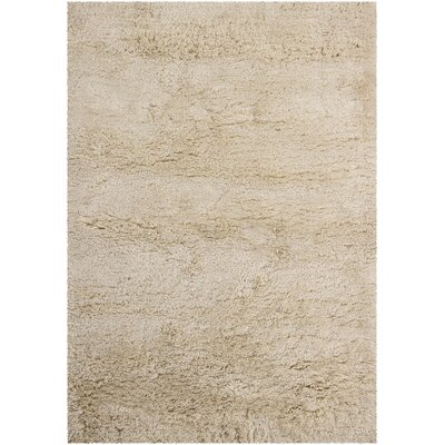 Issac Shag Cream Area Rug Rug Size: Rectangle 2 x 3