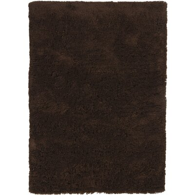 Chandra Bancroft Shag Dark Brown Area Rug - Rug Size: 5' x 7'6