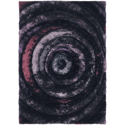 Shag Purple Area Rug Rug Size: 5 x 76