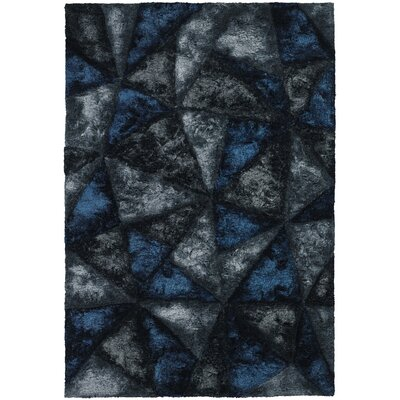 Shag Dark Grey Area Rug Rug Size: 79 x 106