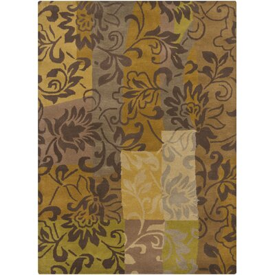 Gagan Gold Area Rug Rug Size: 5 x 7