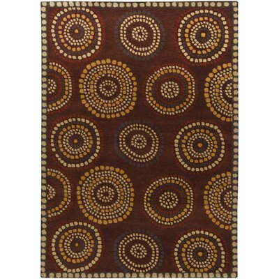 Castlekeep Dark Brown Area Rug Rug Size: 5 x 7