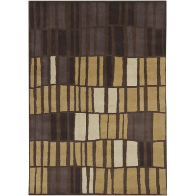 Carol Brown/Tan Area Rug Rug Size: 5 x 7