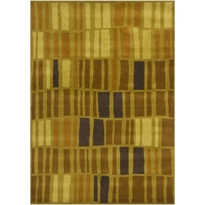 Carol Brown/Green Area Rug Rug Size: 5 x 7