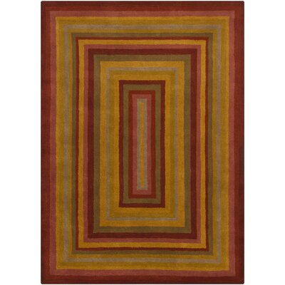 Stockwood Wool Geometric Area Rug Rug Size: 5 x 7