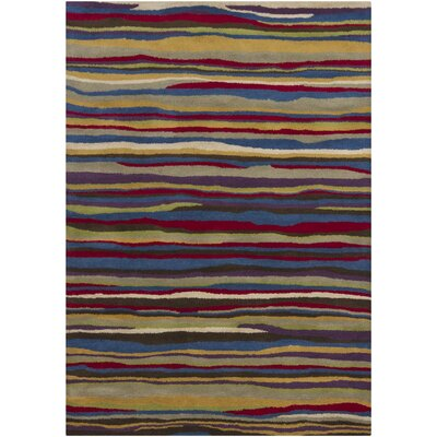 Stockwood Striped Area Rug Rug Size: 5 x 7