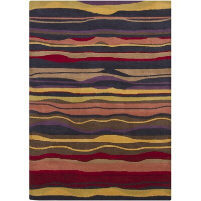 Stockwood Wool Striped Area Rug Rug Size: 5 x 7