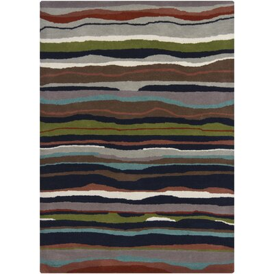 Stockwood Green/Brown Area Rug Rug Size: 5 x 7