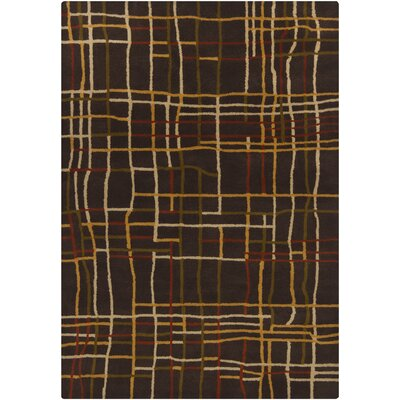 Stockwood Dark Brown Area Rug Rug Size: 5 x 7