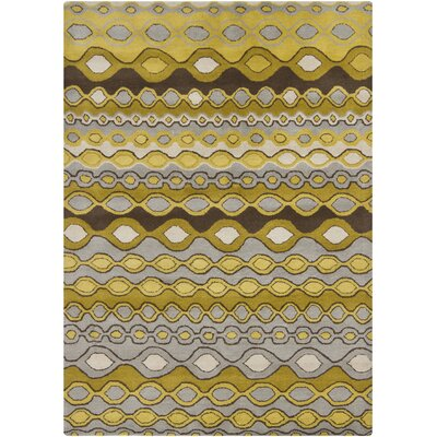 Carol Gold/Yellow Area Rug Rug Size: 5 x 7