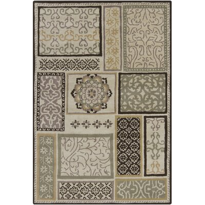 Gagan Brown/Tan Area Rug Rug Size: 7 x 10