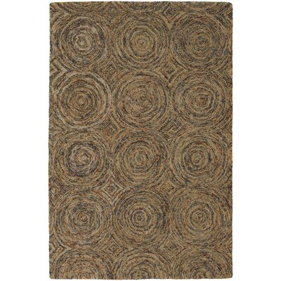 Frances Tan/Brown Area Rug Rug Size: 79 x 106
