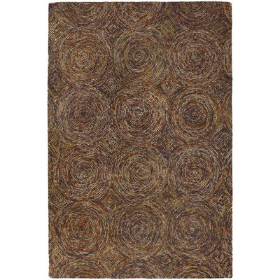 Frances Brown/Tan Area Rug Rug Size: 5 x 76