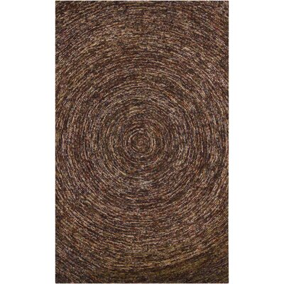Frances Dark Brown Area Rug Rug Size: 79 x 106