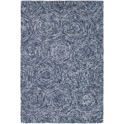 Frances Blue Area Rug Rug Size: 79 x 106