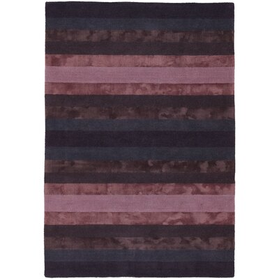 Emlyn Blue/Purple Stripes Area Rug Rug Size: 2' x 3'