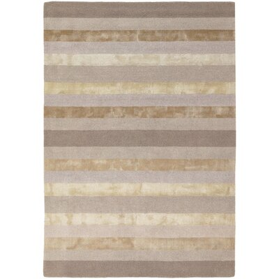 Emlyn Light Grey Stripes Area Rug Rug Size: 7'9
