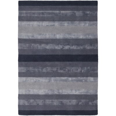 Emlyn Dark Grey Stripes Area Rug Rug Size: 79 x 106
