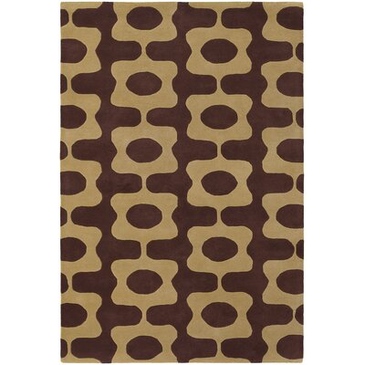 Vasques Brown/Tan Area Rug Rug Size: 79 x 106