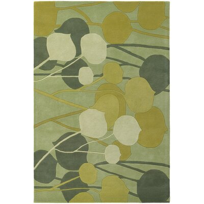 Inhabit Designer Lime Area Rug Rug Size: 5 x 76