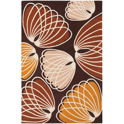 Bynum Brown/Orange Area Rug Rug Size: 5 x 76