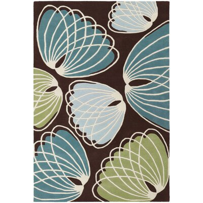 Bynum Brown/Blue Area Rug Rug Size: 79 x 106