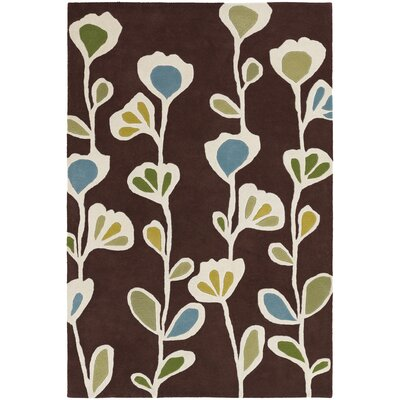 Cox Brown Area Rug Rug Size: 79 x 106