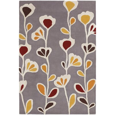 Inhabit Designer Gray Area Rug Rug Size: 79 x 106