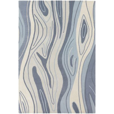 Yaning Blue Area Rug Rug Size: 79 x 106