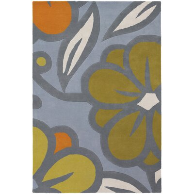 Stoltz Blue/Green Area Rug Rug Size: 5 x 76