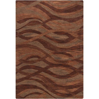 Donora Brown/Orange Area Rug Rug Size: 5 x 76
