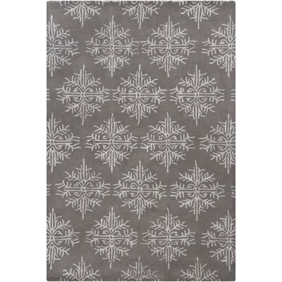 Donora White/Gray Area Rug Rug Size: 5 x 76