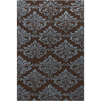 Reina Brown/Blue Area Rug Rug Size: 79 x 106