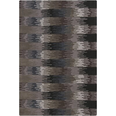 Gaines Brown/Black Area Rug Rug Size: 7'9