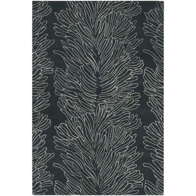 Dunbar Black Rug Rug Size: 79 x 106