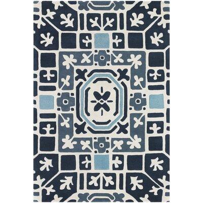 Leva Blue Rug Rug Size: 79 x 106
