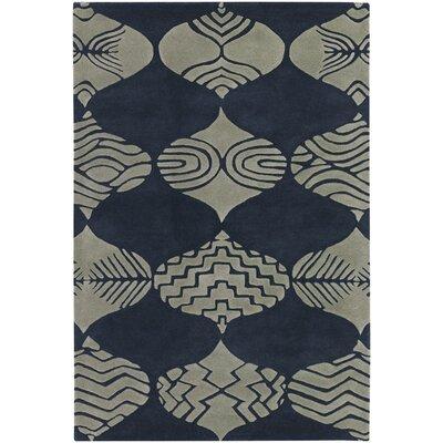 Donnan Blue/Ivory Rug Rug Size: 79 x 106