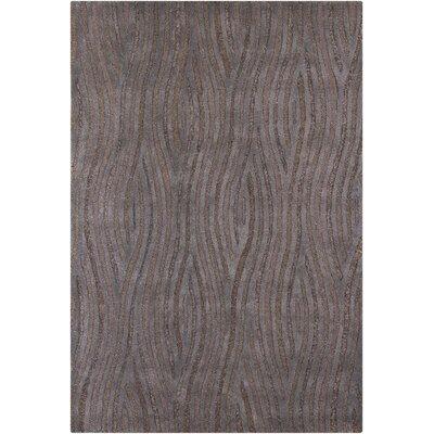 Lefler Grey Area Rug Rug Size: 79 x 106