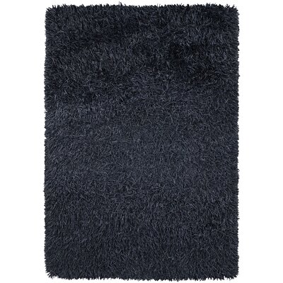 Poligan Shag Navy Area Rug Rug Size: 79 x 106