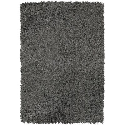 Poligan Shag Grey Area Rug Rug Size: 5 x 76