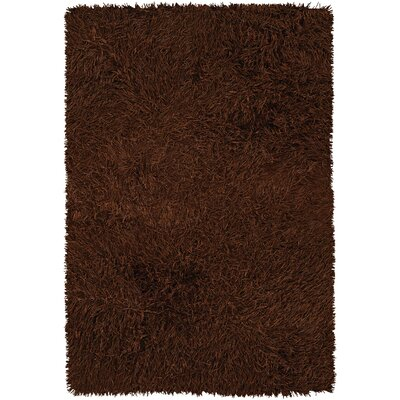Poligan Shag Rust Area Rug Rug Size: 79 x 106