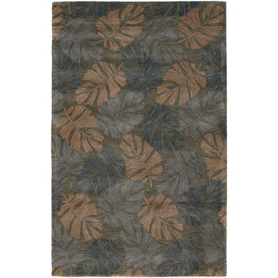 Pierview Dark Brown Area Rug Rug Size: 2 x 3