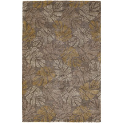 Pierview Light Brown Area Rug Rug Size: 5 x 76