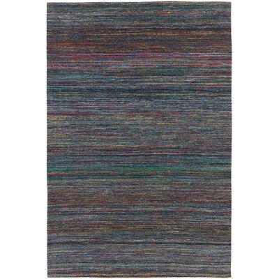 Cabarley Dhurrie Dark Blue Area Rug Rug Size: 79 x 106